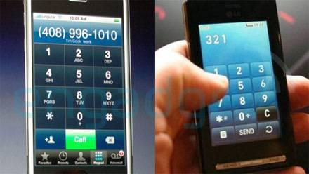 Iphone y LG KE850, imagen 2