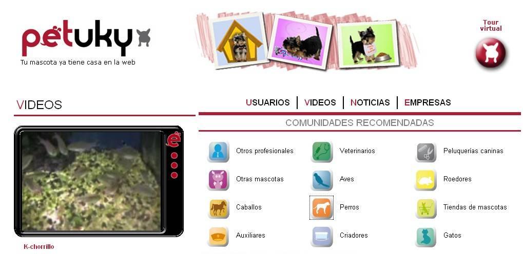 Petuky, una web social de mascotas para dueños y profesionales
