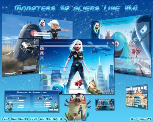 monsters vs aliens live small