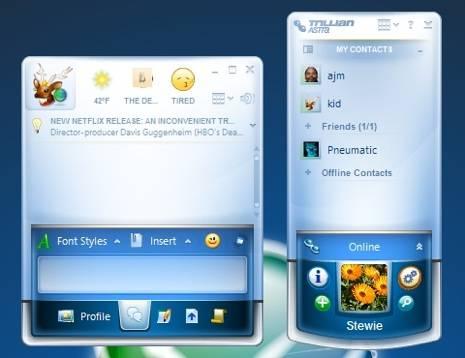 Trillian Astra disponible para todos - messenger es gratis