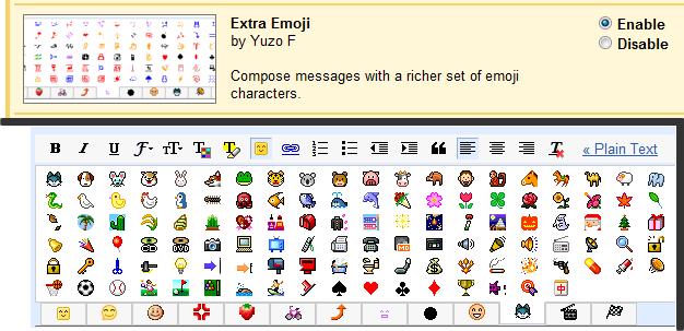 Más emoticonos para Gmail