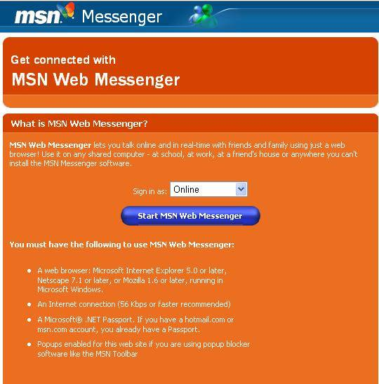 Evolucion del [msn] Messenger.