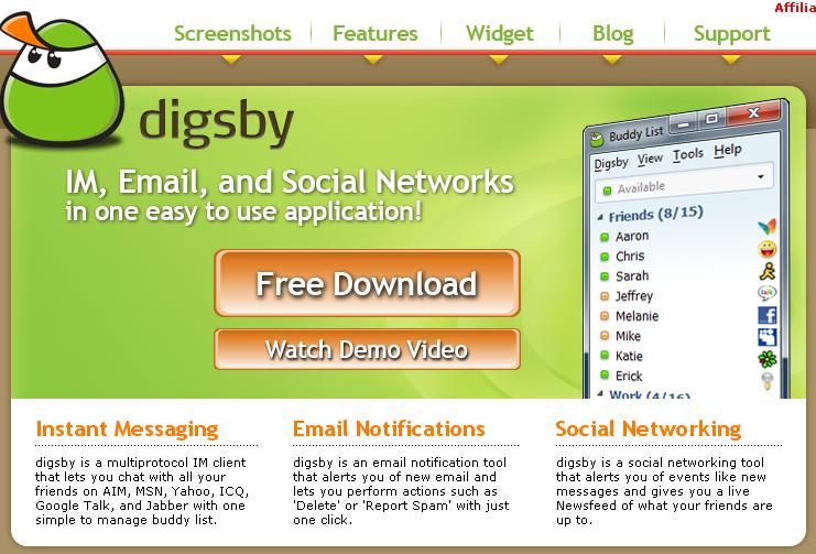 Digsby llega con una nueva actualización y compatibilidad con Facebook