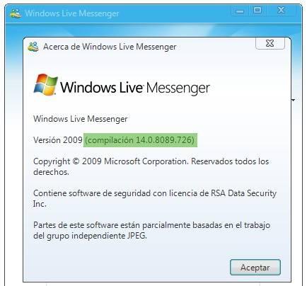 wlm 2009 actualización