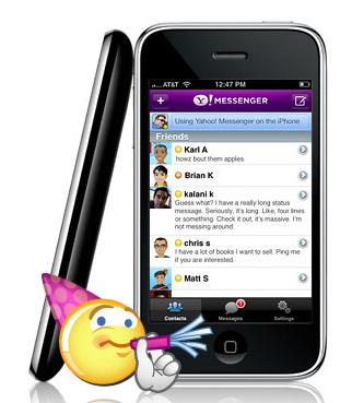 Nueva versión de Yahoo! Messenger para iPhone