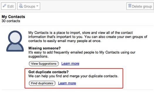 gmail contactos duplicados