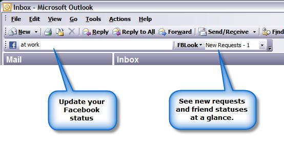 facebook en outlook