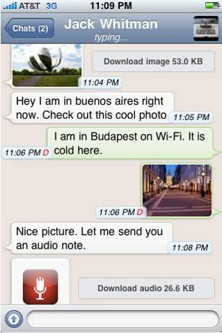 whatsapp messenger chat