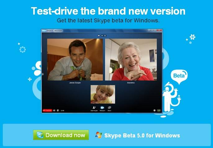 skype 5.0 cinco usuarios