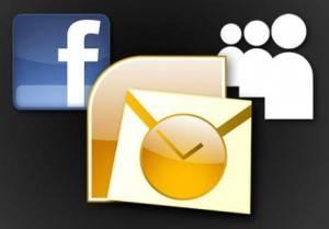 outlook facebook myspace