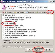 A-patch, parche para quitar la publicidad de Windows Live Messenger Beta