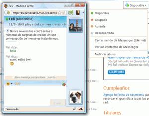Cómo cerrar el chat de Messenger en Hotmail