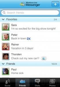 Windows Live Messenger 1.1 con chat de Facebook