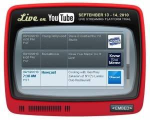 Reprodución en streaming de YouTube comenzó su período de prueba
