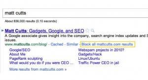 Google bloquear busquedas