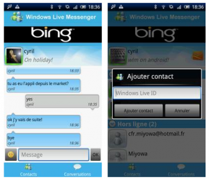 Windows Live Messenger a punto de llegar al Android Market