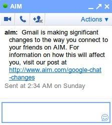 Google Talk se integra con AIM