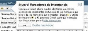 marcadores de importancia de Gmail