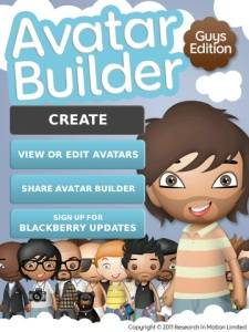 312780 Avatar Builder para BlackBerry messenger