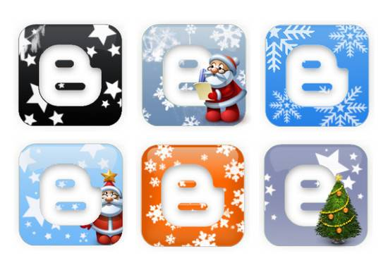 Blogger Xmas Logo Icons navidad 2012