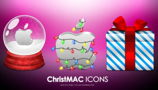 ChristMAC iconos navidad apple