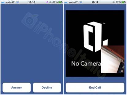 Video call Facebook Messenger iPhone 2