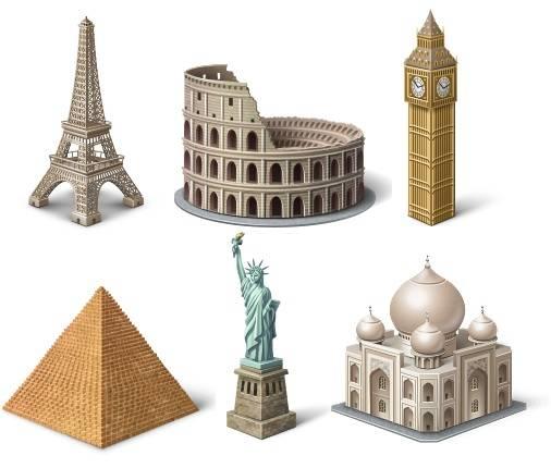 iconos de turismo