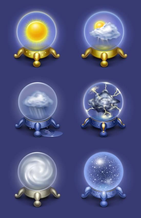 iconos magicos de el tiempo