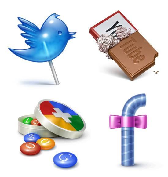 iconos muy dulces social media