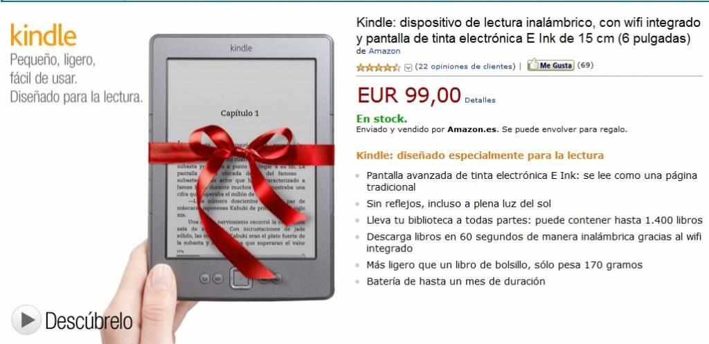 Kindle a la venta en España