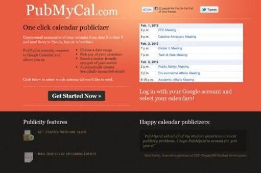PubMyCal comparte eventos por mail