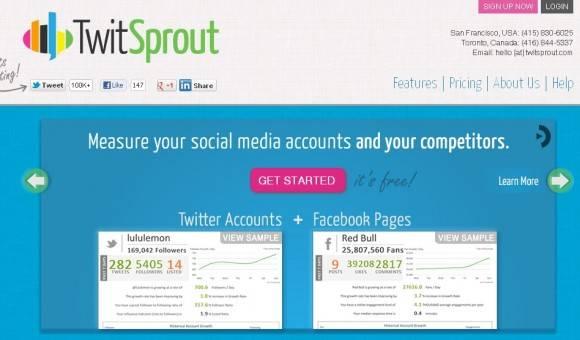 twitsprout te permite ver estadisticas de twitter