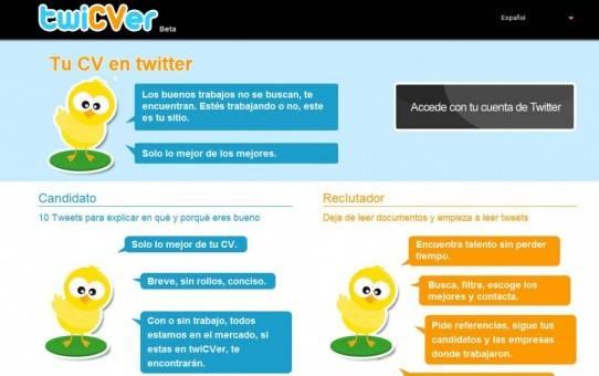 Twicver enviar tu curriculum via twitter