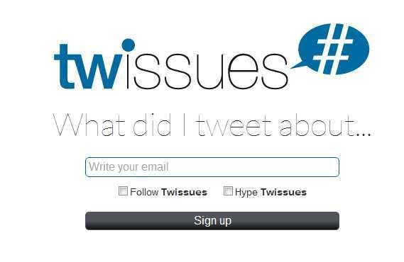twissues para buscar entre todos tus tweets
