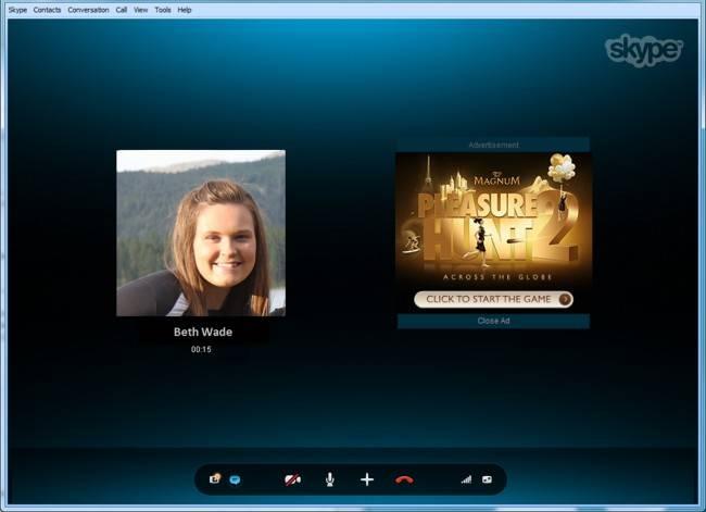 Skype Conversation Ads