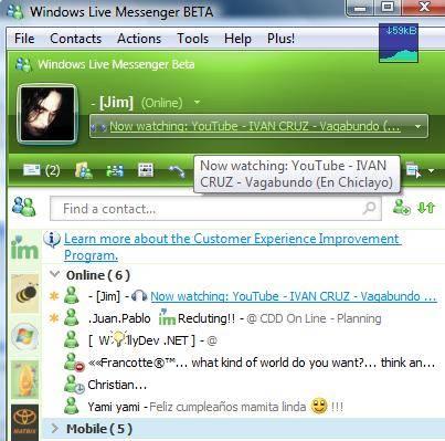 Windows Live Messenger YouTube