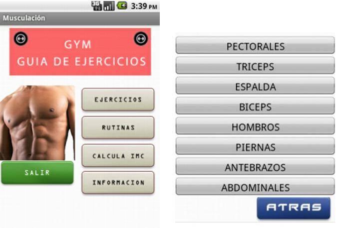 aplicación gym para android