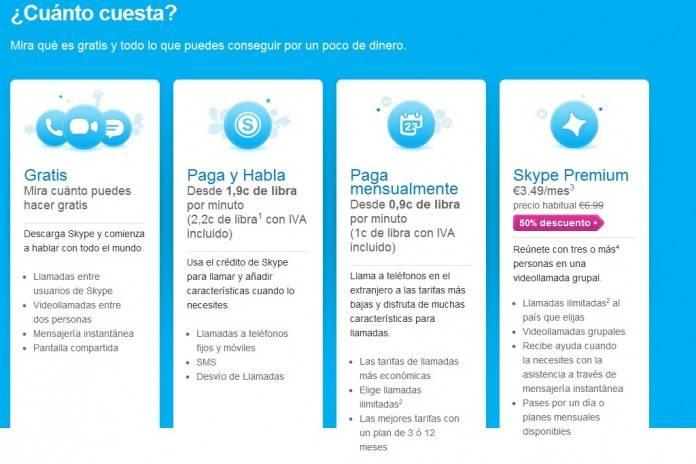 precios Skype