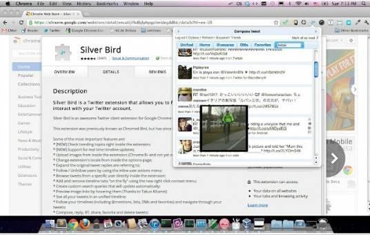 silver bird cliente twitter para android