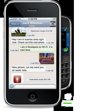 Whatsapp es gratuita para dispositivos android blackberry y windows