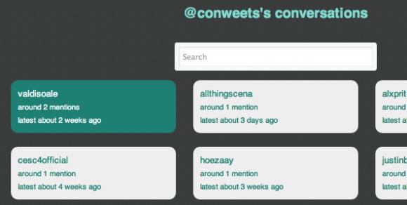 conweets permite acceder a las conversaciones de dos usuarios