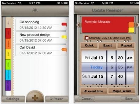 e-rimender para recordar en iphone