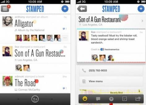stamped permite añadir listas de rdio y spotity