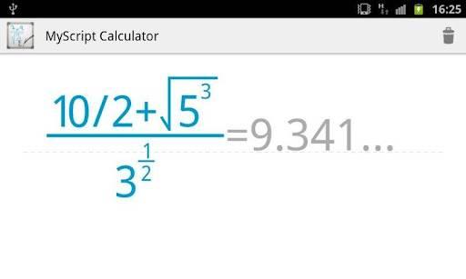 MyScript Calculator te ayuda a realizar tus cálculos