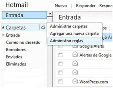 crear carpeta hotmail