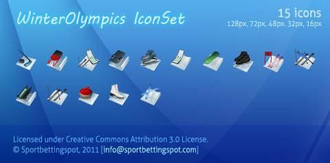 iconos juegos olimpicos invierno