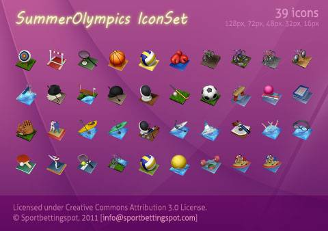 iconos juegos olimpicos verano