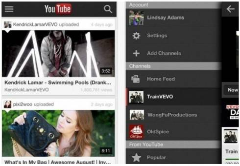 nuevo youtube para iphone e ipod