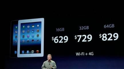 Precio de lanzamiento del nuevo iPad 4G con conexión 4G y WiFi