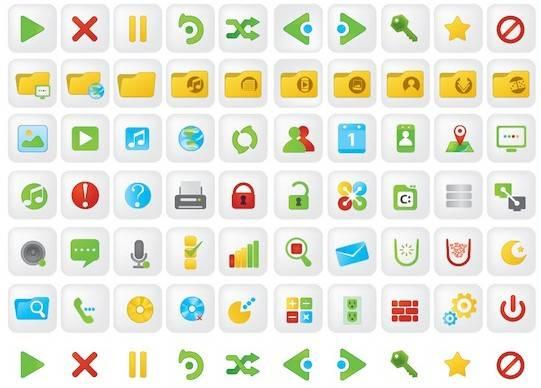 conjunto iconos para web